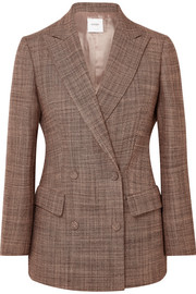 Double-breasted wool-tweed blazer