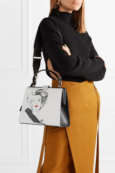 ef4b84627c8a3a Michael Kors Collection. + David Downton Brooke printed leather tote.  $2,450. Play