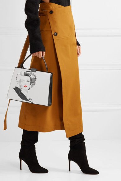 b0482865667cea Michael Kors Collection. + David Downton Brooke printed leather tote