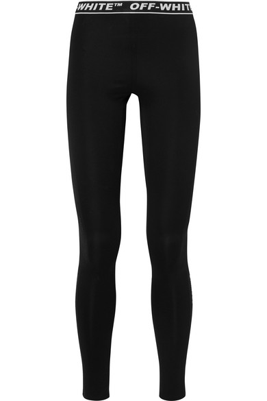 Perforated Stretch Jersey Leggings by Off White