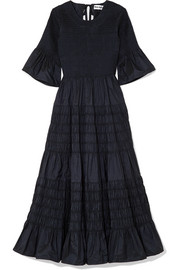 Molly Goddard Shaan shirred taffeta midi dress