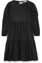 Molly Goddard Milla tiered cotton-twill dress