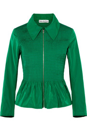 Molly Goddard Lillian shirred taffeta peplum jacket