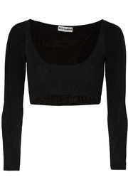 Molly Goddard Katie cropped mesh top