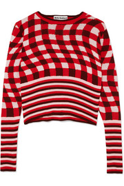 Molly Goddard Fifi checked cotton sweater