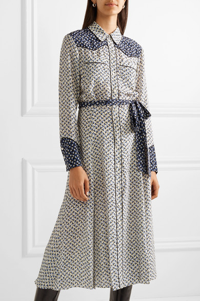 a2643c6ca Veronica Beard   Spur printed silk crepe de chine midi dress   NET-A ...
