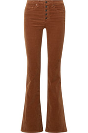 Beverly stretch-cotton corduroy flared pants
