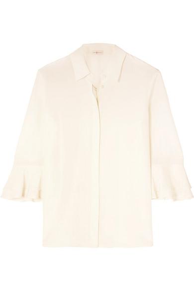 Tory Burch Shirts Monica ruffled silk crepe de chine shirt