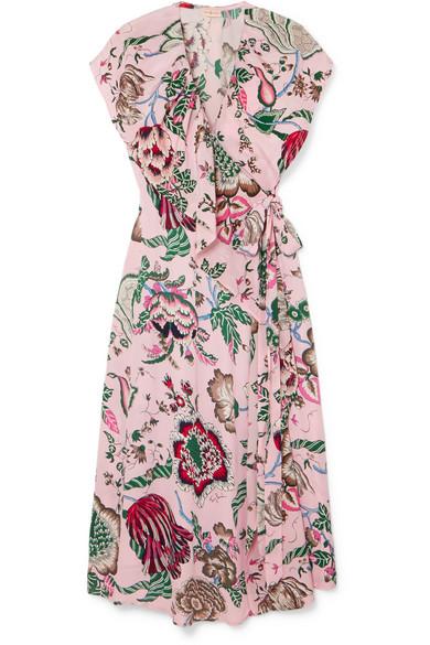 f6a363a0299 Tory Burch. Adelia ruffled floral-print crepe de chine wrap dress