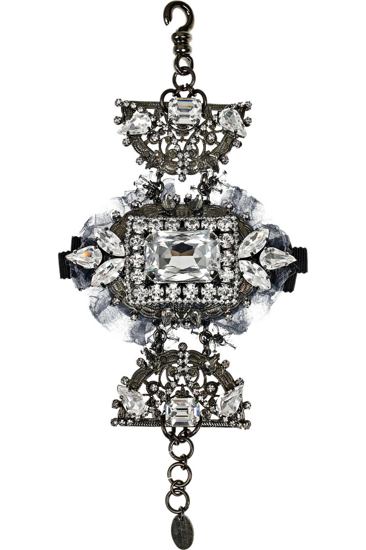 Erickson Beamon Midnight Lace Swarovski crystal bracelet