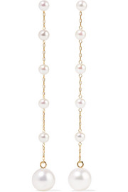 14-karat gold pearl earrings