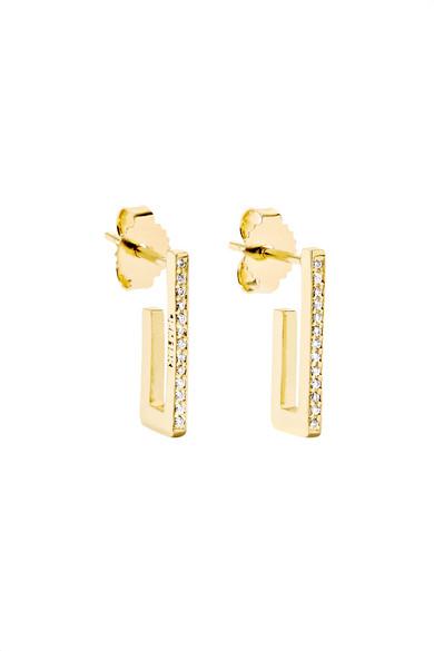 Jennifer Meyer Mini Rectangle 18-karat Gold Earrings 6BPB8jC5q