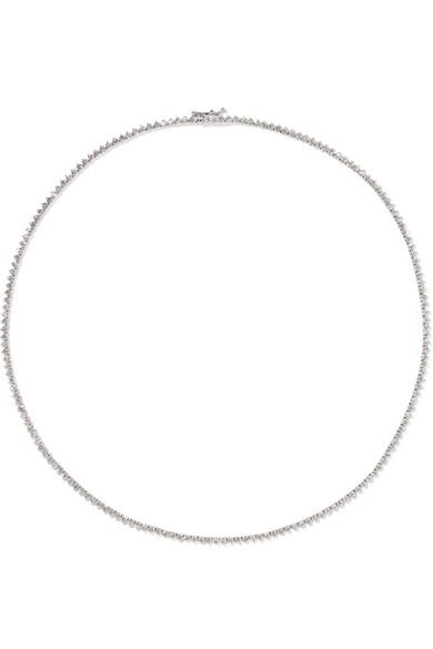 18 Karat White Gold Diamond Necklace by Jennifer Meyer