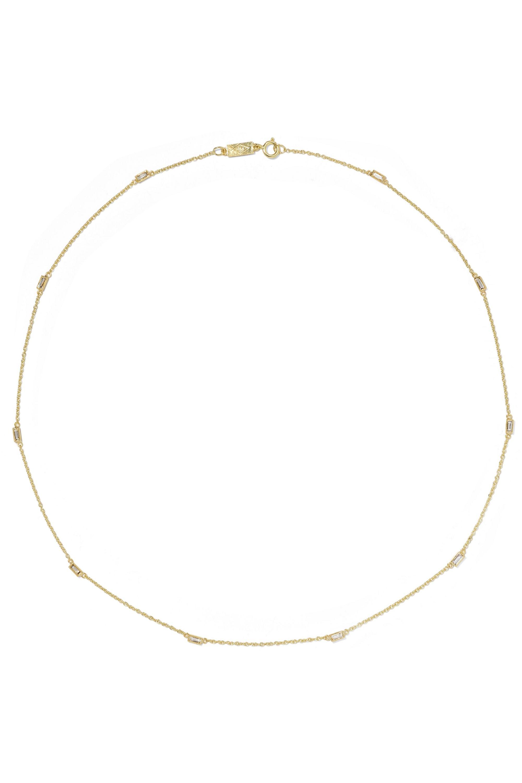Jennifer Meyer By-the-Inch 18-karat gold diamond necklace