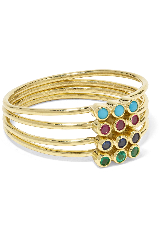 Jennifer Meyer 18-karat gold multi-stone ring