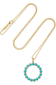 Jennifer Meyer 18-karat gold turquoise necklace