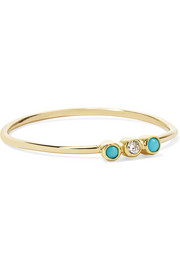 Jennifer Meyer 18-karat gold, turquoise and diamond ring