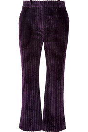Altuzarra Adler cropped cotton-corduroy flared pants