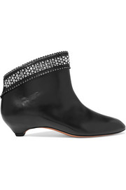 Alaïa Stud-embellished leather ankle boots