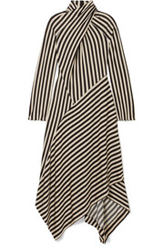 Petar Petrov Dasha Striped stretch-jersey turtleneck midi dress