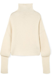 Petar Petrov Ribbed cashmere turtleneck sweater