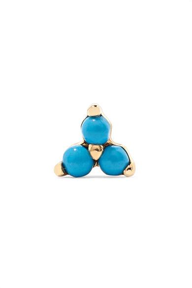 Trinity 14-Karat Gold Turquoise Earring