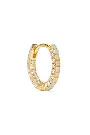 Maria Tash 18-karat gold, opal and diamond earring