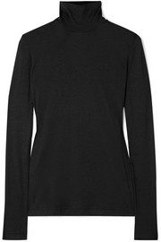 Cashmere and silk-blend turtleneck top