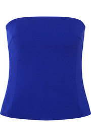 Akris Strapless wool-blend crepe top