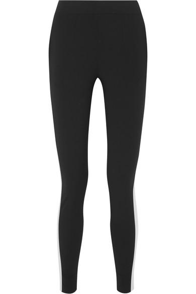 VAARA Yoselin Striped Jersey Leggings in Black