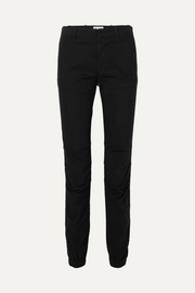 Nili Lotan French Military stretch-cotton twill slim-leg pants