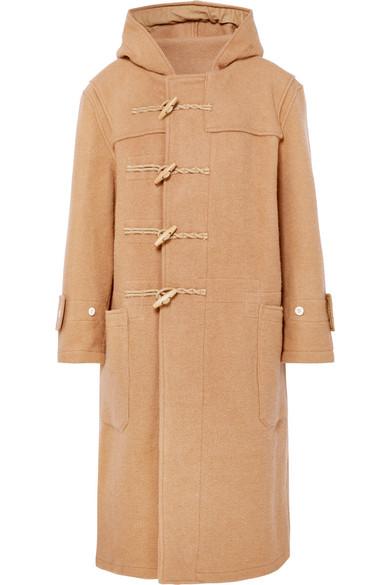 R13 - Oversized Hooded Wool Duffle Coat - Camel
