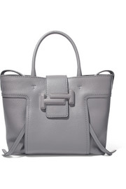 Double T medium textured-leather tote