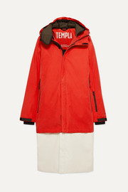 3L Tombra convertible hooded cotton-blend ski coat