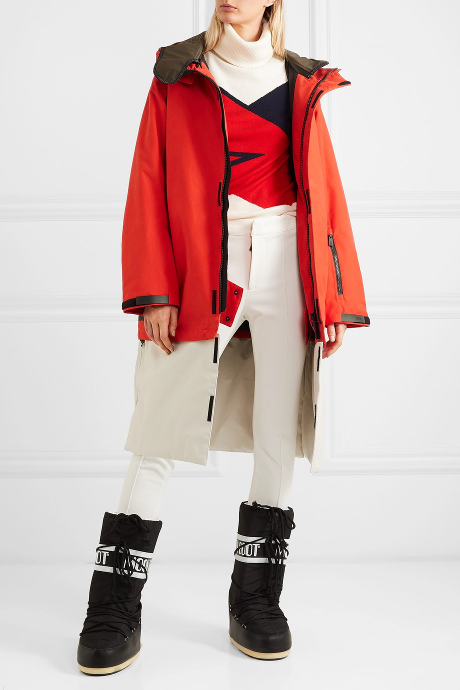TEMPLA 3L Tombra convertible hooded cotton-blend ski coat