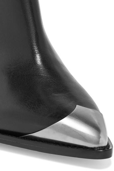 83b474c9321 Isabel Marant. Lenskee metal-trimmed leather knee boots.  1