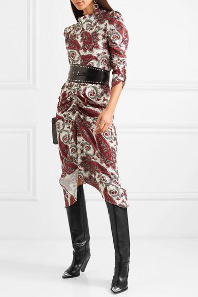 e485c7d8836 Isabel Marant. Lenskee metal-trimmed leather knee boots