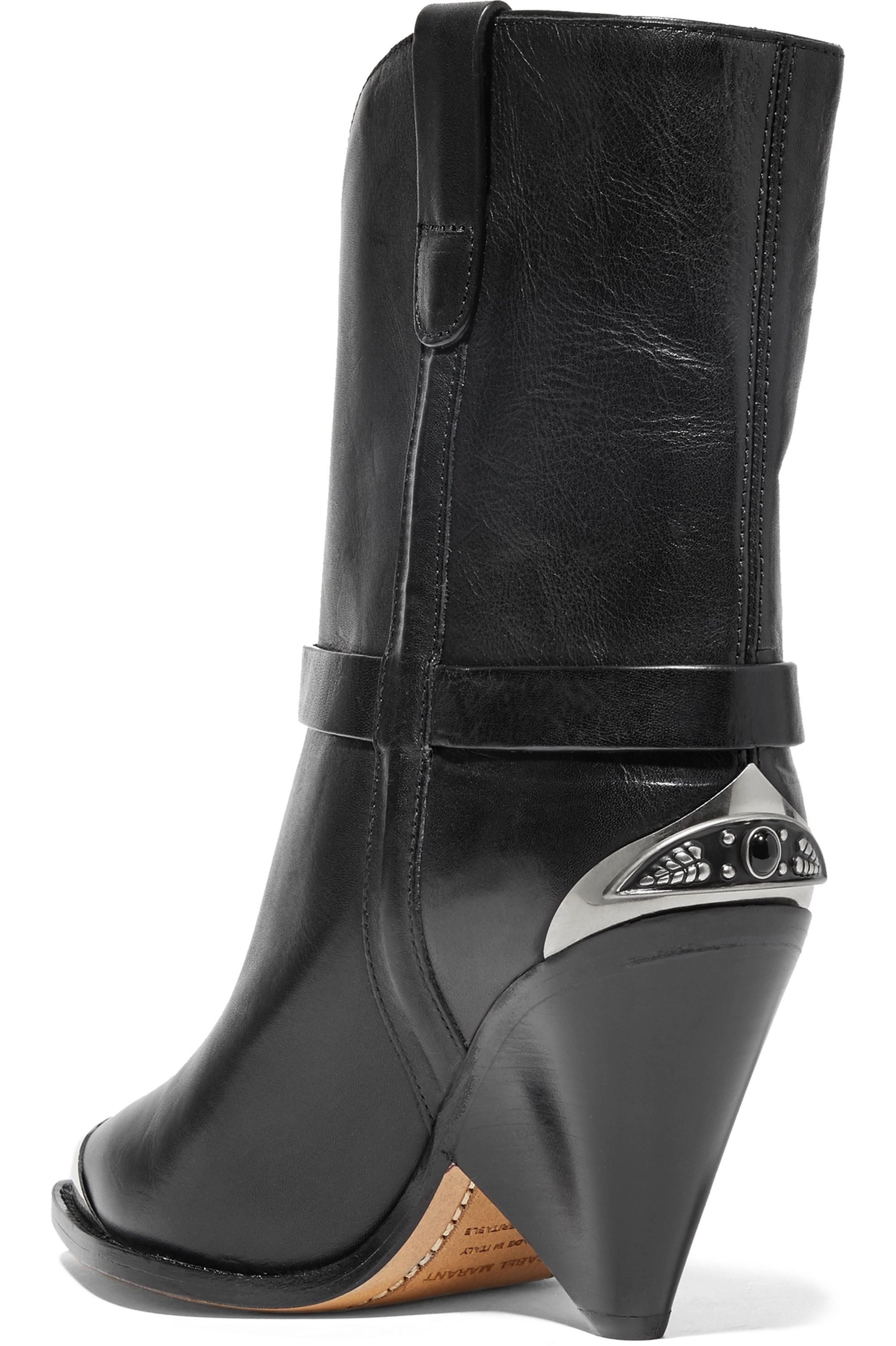 Isabel Marant Lamsy embellished leather ankle boots