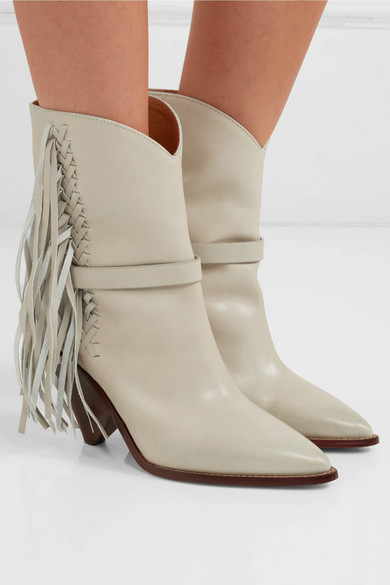 Isabel Marant Boots Loffen fringed leather ankle boots