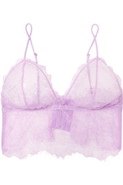 Stretch-lace soft-cup triangle bra