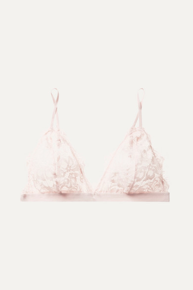 Stretch Lace Soft Cup Triangle Bra by Anine Bing