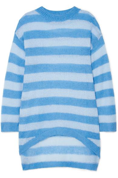 Georgia Alice Delphine oversized striped open-knit sweater