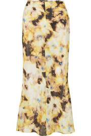 Georgia Alice Acid printed cotton and silk-blend midi skirt