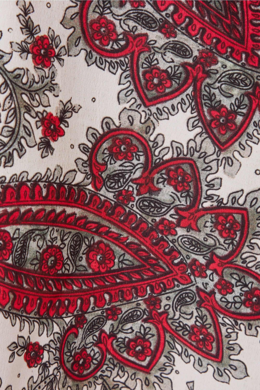 Isabel Marant Robe midi en crêpe de Chine imprimé à drapés Tizy
