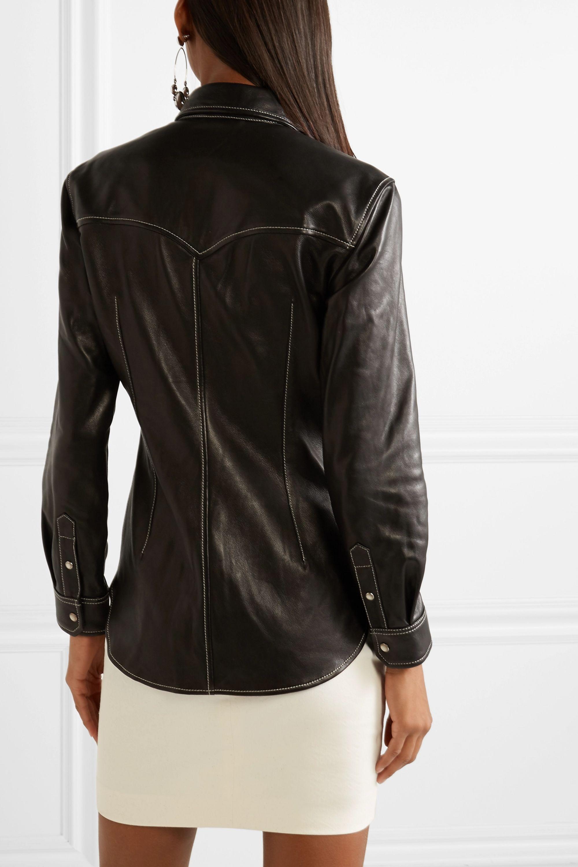 Isabel Marant Nile leather shirt