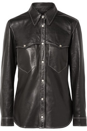 Nile leather shirt