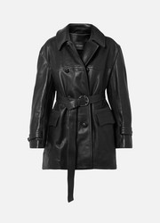 Isabel Marant Trench-coat oversize en cuir Chili