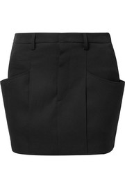 Rabea wool-twill mini skirt