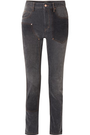 Orrick paneled high-rise slim-leg jeans
