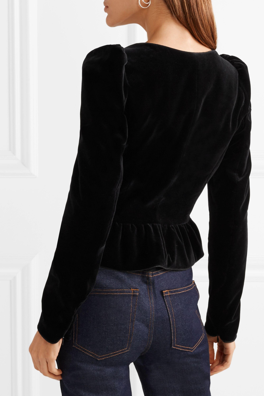 Dundas 绑带式羊毛混纺天鹅绒上衣